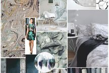 SS18 Trend: Mineral / The Mineral trend explores aquatic and lunar landscapes through raw surfaces,  mottled effects and pearlescent details.