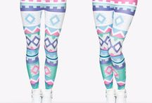 Beautiful Funky Leggings / These leggings are all about standing out from the crowd!! From sports & fitness or parties & festivals to even just lounging at home.....do it it style and comfort at www.ravekit.co.uk