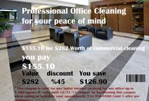 promotion /discounts / office cleaning savings!!! www.skylinebuildingsvcs.com / by Skyline building services