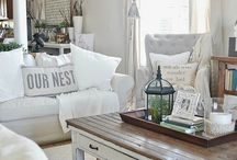 C&B Cottage Decorating Style / Cottage is somewhat like the styles of Vintage, Shabby Chic and Retro. But it is very casual and charming.  Furniture is often adapted for other uses – like a bench becoming a coffee table. It also tends to be beachy, accented with sea shells and sand filled jars. Cottage style is airy and light and laid back.
