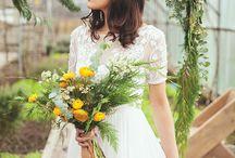 Beautiful Floral Bridal Shoot at Secret Herb Garden, Edinburgh