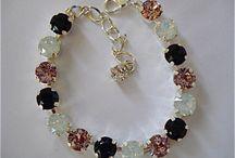 Swarovski Crystal Tennis Bracelets / Sabika inspired, handmade crystal tennis bracelets