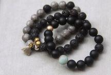 Gemstone Bracelets / handmade essential oil diffuser bracelets made with gemstones and lava beads