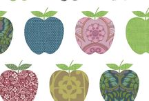 fruity / Fruity decor such as furniture, textiles, lamps, wallpaper, stickers, bedlinen, cushions, rugs..(you name it!) for a kidsroom aswell as fruity toys for a kids playroom