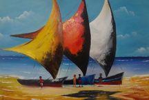 pintura em tela - marina