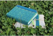 Babywrap Covered Books / Handmade notebooks covered with scraps of slings and babywraps