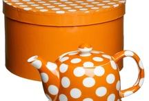 Orange Teapot & teacup