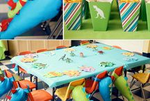 Dinosaur Party Inspiration / Plan the perfect dinosaur themed party for your little one! Check out themed food, decor and games right here.