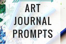Art Journaling / Inspiring art journal tips and layouts.