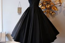 50s Black bridesmaid dress / 50s wedding vintage bridesmaid dresses