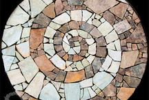 Stone and tiles floor