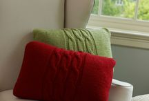 pillows/cushions / Knit / sewn / recycled sweaters