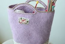 CROCHET HANDBAGS, PURSES, TOTES & BAGS