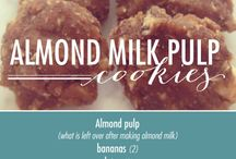 Almond, Cashew, and Coconut Pulp Recipes / What to do with all that leftover pulp from making almond, cashew, and coconut milk!