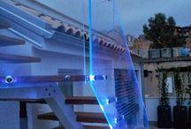 Inox Stair Led Glass Cassetti Soluzioni / Universal Sistem Fixed Glass Light integret. Stairs