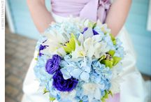 purple & blue wedding