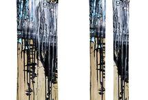 Snowboard and ski designs / Snowboard and ski topsheet designs by myself