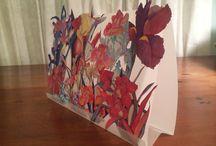 Tabletop Garden Card / Sara Steele art placed on mylar to create tabletop garden