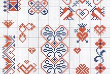 cross stitch folk