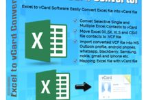 Excel to vCard Converter / Excel to vCard software easily export excel file contact to vCard format.