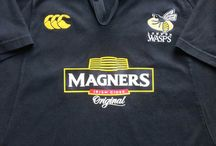 Classic London Wasps Rugby Shirts / Classic, vintage & retro authentic London Wasps rugby shirts from the past 30 years.  Worldwide Shipping   Free UK Delivery