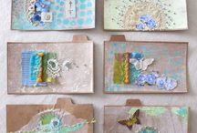 Pollen and Pods / Mixed media and textile art by Diana Taylor at Velvet Moth Studio