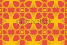 Patterns of autumn colors / Geometric Vector Patterns