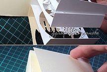 Kreatív papír dobozka