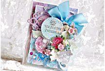 Открытки с цветами / Здесь собраны идеи открыток украшенных цветами