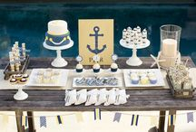 Nautical Baby Shower - Navy and Yellow / This Nautical Baby Shower is definitely one of my favorite themes that we have created and styled for Pottery Barn Kids. This is a perfect theme for a summer baby shower, bridal shower or birthday party. I adore the yellow and navy color combination and preppy details. / by The TomKat Studio