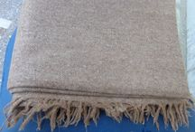 Handwoven 100% sheep wool blankets 220x138cm / Handwoven and handspun thread, 100% sheep wool blankets 2150x138cm