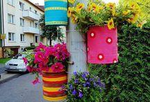 flores na rua.latas