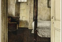 Andrew Wyeth / Taking realism to a darker & poetic canvas - pure magic that eludes so many realists