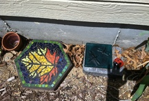 Pavers and leftover tile board / by Anna Butler