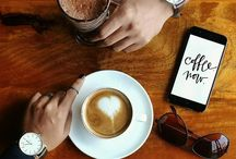 coffee, flatlay, hands in frame / for the love of coffee, flatlay, handsinframe and all things Pinterest-y :)