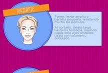 Cortés, tintes, peinados y maquillaje