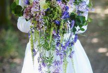 bukiety ślubne kolorowe i lejące dla Agi