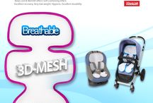Manito Original 3D Mesh Seat Pad / Manito's 3D Mesh Seat Pad for Stroller and Car Seat keeps your baby comfortable, refreshing and dry at all times! Especially during the hot summer days!