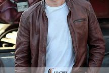 Scott Eastwood fast 8 Brown Jacket / Buy Scott Eastwood Brown Leather Jacket from LeathersJackets.com you can get FREE Shipping in your hometown in USA, UK and CANADA.  visit here to buy: http://goo.gl/JavdVw