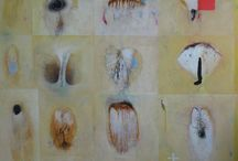 """species"" by Co van Assema / Lyrical abstract paintings, a collection of living creatures."