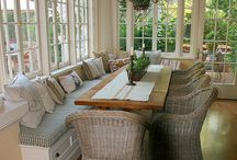 Screened Back Porch Inspiration / Ideas to design a screened-in back porch on our modular home.