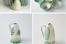 Hand painted pottery and ceramics