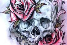 Skulls ´n flowers (plants and trees)