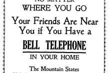 Mountain States Telephone and Telegraph Company / The Mountain State Telephone and Telegraph Company (MST&T) was the Bell Telephone Company providing service for Montana, Idaho, Wyoming, Utah, Colorado, Arizona, and New Mexico plus the western corner of Texas. Starting with its founding in 1911, MST&T had a large advertising presence in Montana newspapers.  The ads on this board all come from Montana newspapers dated 1911-1923 and are freely available online from chroniclingamerica.loc.gov and montananewspapers.org.