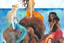 My Mermaid Art / Various mermaids I've drawn and painted over the past few years.