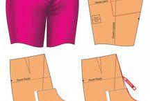 Kumaş pantolonlar kalıp detayı