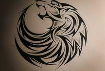 tattoo loup
