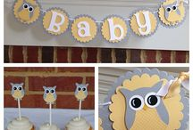 Owl baby shower boy