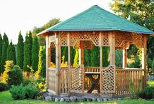 Gazebo / Unique wooden and pop-up garden gazebo canopy ideas, plans and kits with lights for inspiration. We've also tested and reviewed the best gazebos for sale. - http://plantedwell.com/gazebos/