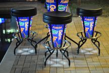 NCAA - UF - Bright Stools / NCAA licensed Bright Stools and Tables